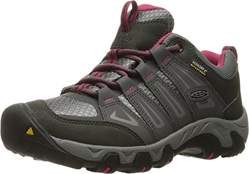 KEEN Women's Oakridge Waterproof Shoe, Magnet/Rose, 6.5 M US by KEEN