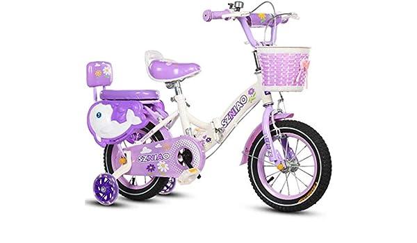 FEE-ZC Bicicleta Plegable de Seguridad para niños con Ruedas de ...