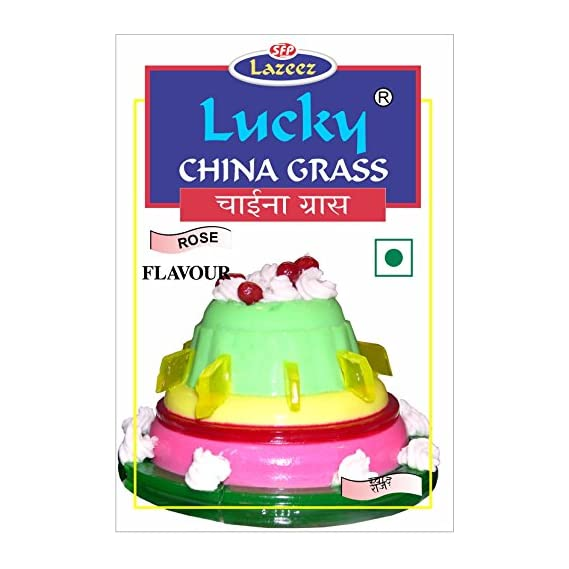 Lucky China Grass (Rose Flavour) 100g. [Pack of 2]