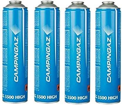 Bombona cartucho cartuchos de gas 350 g – CG3500 Campingaz CG 3500 – Casquillo de tornillo ideal para soldadores – Oferta para 4 bombonas