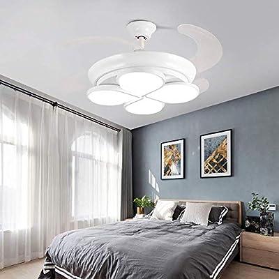 Luz de ventilador de techo ultra silenciosa, retráctil, con ...