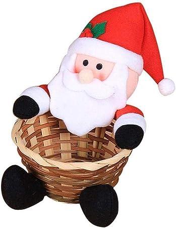 Cesto Decoración Snacks Contenedor Portátil Organizador Multiuso Barrita Regalo Infantil Navidad Caja Fiesta Almacenaje Adorno Decoración Hogar (12CMx18CMSmall Papá Noel): Amazon.es: Hogar