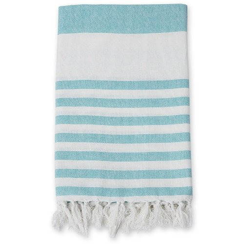 lulujo Turkish Towel Ocean White