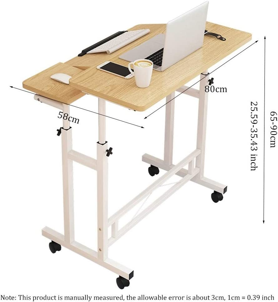 Color : Blue LSJGG Portable Side Table Multifunctional And Practical Writing Drawing Reading