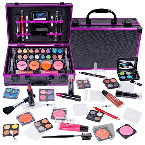 SHANY Carry All Makeup Train Case with All-In-One Professional Makeup and Reusable Aluminum Cosmetics Case – HOLIDAY EXCLUSIVE