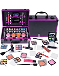 SHANY Carry All Makeup Train Case with All-In-One Professional Makeup and Reusable Aluminum Cosmetics Case - HOLIDAY EXCLUSIVE