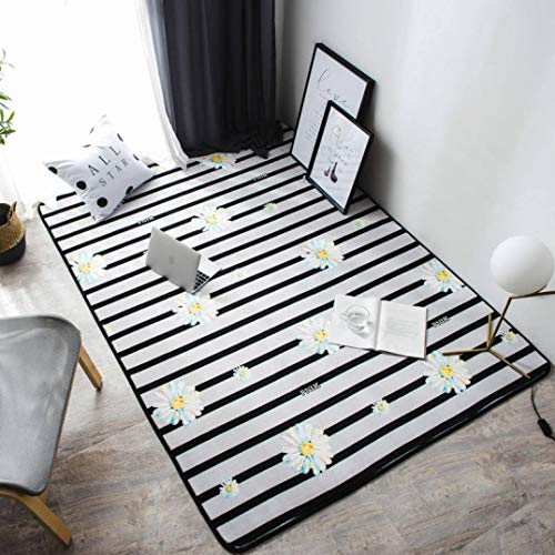 (WONNA Modern Style Flannel Doormat Living Room Carpets for Home Non-Slip Washable Coffee Table Bedroom Area Rug Children Play Mat)