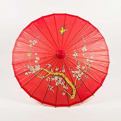 Quasimoon PaperLanternStore.com 32 Red Cherry Paper Parasol Umbrella