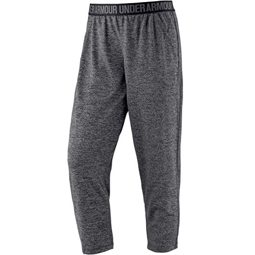 Under Armour Women's Play Up Twist Capris, Black/Metallic Silver (001), (Under Armour Tech Capri)