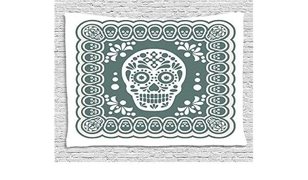 ABAKUHAUS Cráneo del Azúcar Tapiz de Pared, Símbolos De México ...