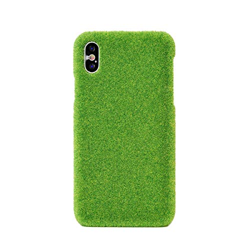 Shibaful Long-Lasting Real-Grass-Texture Green Turf Case for Apple iPhone Xs - Made in Japan [Yoyogi Park]