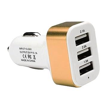 Triple USB Universal cargador de coche 3 puerto USB cargador ...