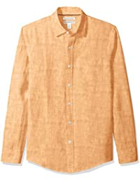 Men's Slim-Fit Long-Sleeve Linen Shirt