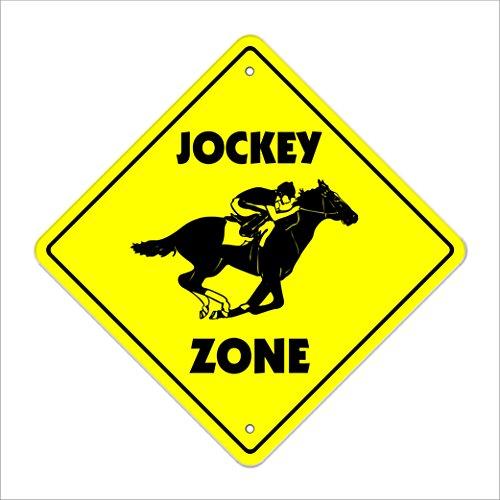 (Jockey Crossing Sign Zone Xing | Indoor/Outdoor | 12