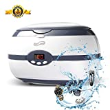Housmile Ultrasonic Cleaner, Jewelry Cleaner, Denture Cleaner with Digital Timer and Degas Anti-Oxidation Function for Watch, Glasses, etc. No Vibration 20 Oz Capacity