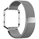 Milanese Stainless Steel Watch Band Strap Bracelet For Fitbit Blaze