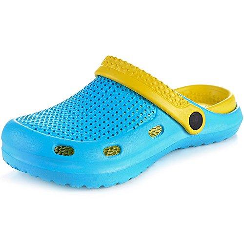 DULEE - Sandalias deportivas de goma eva para mujer azul/amarillo