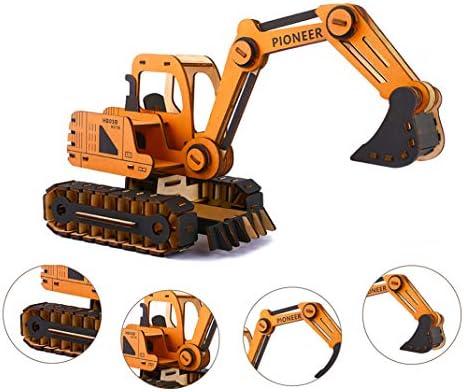 [해외]3D Wooden Puzzle DIY Excavator Model Educational Toy Ideal Gift and Decoration for Kids and Adult (168 Pieces) / 3D Wooden Puzzle DIY Excavator Model Educational Toy, Ideal Gift and Decoration for Kids and Adult (168 Pieces)