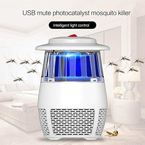 New USB Photocatalyst Mosquito Killer Lamp Mute NO Radiation Electronic Anti-Mosquito Lamp Fly Killer Trap Summer Baby Safety   White, United States