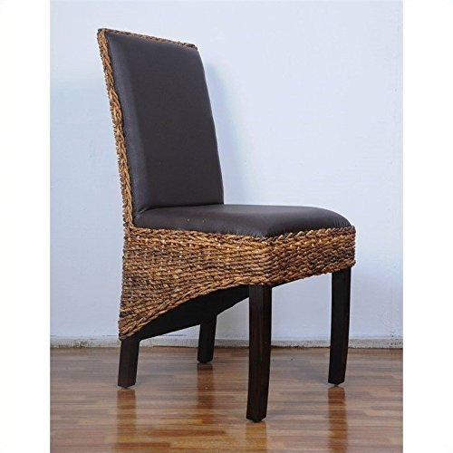 International Caravan SG-3331-2CH-IC Furniture Piece Salma Abaca Dining Chair (Set of Two) (Bali Dining Chair)
