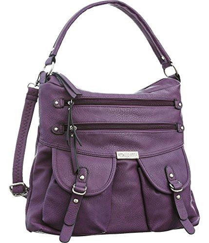 Handbag size Crossbody Women's Vera Convt Graciela Purple Tote Vitalio Hobo q8fBTw