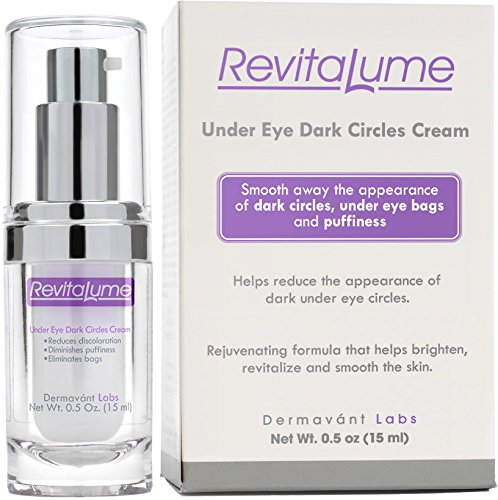 RevitaLume Dark Circle Brightening Serum for Bags & Puffy Eyes -- Powerful Formula to Brighten & Lighten Under Eye Circles -- Anti Aging Cream with Peptides - Chrysin - Green Tea Extract (1.5ml/0.5oz)