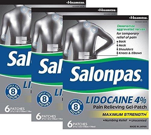Salonpas lidocaine (3 pack) pain relieving maximum strength gel (Pain Relief Maximum Strength Gel)