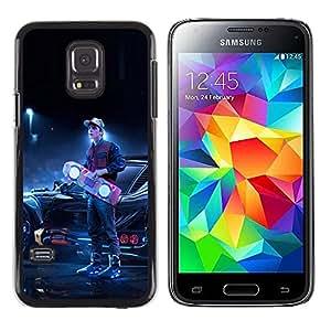 TaiTech / Prima Delgada SLIM Casa Carcasa Funda Case Bandera Cover Armor Shell PC / Aliminium - Back To The Futur - Samsung Galaxy S5 Mini, SM-G800