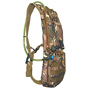 D-Best Hydration Pack Backpacks with 2.5L BPA Free Bladder, Great for Outdoor Sports Hiking, Biking, Running, Walking and Climbing (CP)