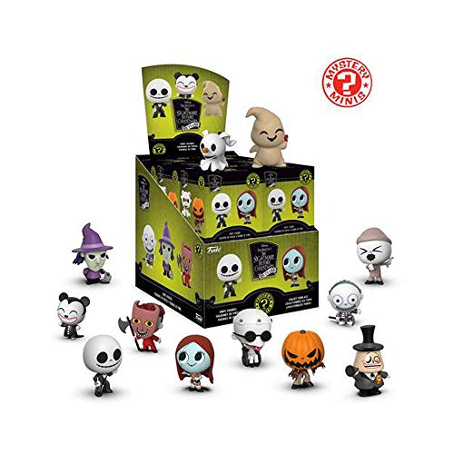 Funko Mystery Minis: Disney Tim Burton's The Nightmare Before Christmas 25th Anniversary Toy Action Figures - 2 Pack Bundle