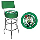 Trademark Gameroom NBA Boston Celtics Padded Swivel Bar Stool with Back