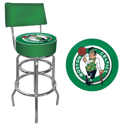 Trademark Gameroom NBA Boston Celtics Padded Swivel Bar Stool with Back by Trademark Gameroom
