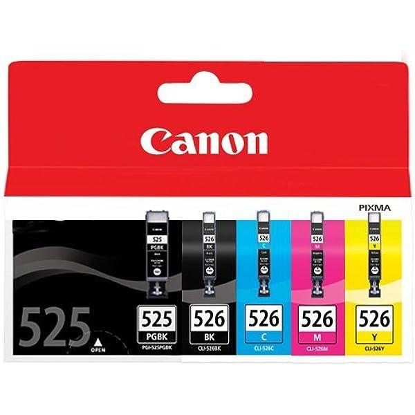 Canon PGI-525+CLI-526 5 Cartuchos Multipack de tinta original PGBK ...