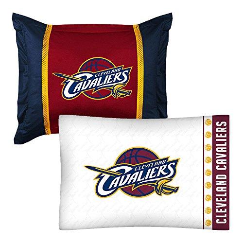 - 2pc NBA Cleveland Cavaliers Pillowcase and Pillow Sham Set Basketball Team Logo Bedding Accessories