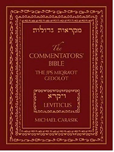 Pdf Bibles The Commentators' Bible: Leviticus: The Rubin JPS Miqra'ot Gedolot