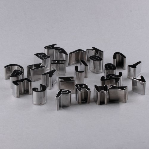 Great Chance 26pcs English Alphabet Letters Shaped Stainless Steel Mini Biscuit Cookies Cutters Molds