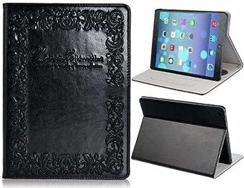 everest Notebook Diseño Falsa Cuero y Soporte TPU estuche protector para iPad Aire (Negro): Amazon.es: Electrónica