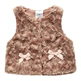 Sooxiwood Baby Girls Vest Fleece Bow Buttons Size