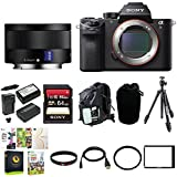 Sony Alpha a7RII Mirrorless Digital Camera Body with Sony SEL35F28Z 35mm F2.8 ZA Lens and Manfrotto Compact Tripod Bundle
