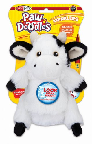 Pawdoodles Krinklers Dog Toy, Cow, Small, My Pet Supplies