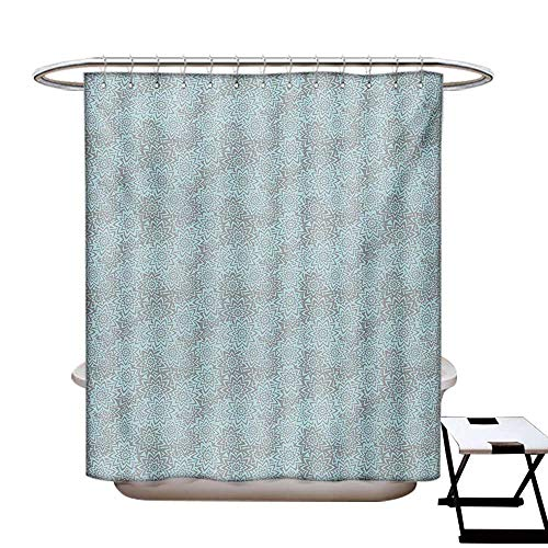 Flower Shower Curtains 3D Digital Printing Abstract Summer Blooms Hand Drawn Nature Themed Composition Ornate Petals Custom Made Shower Curtain W48 x L72 Baby Blue and Taupe ()