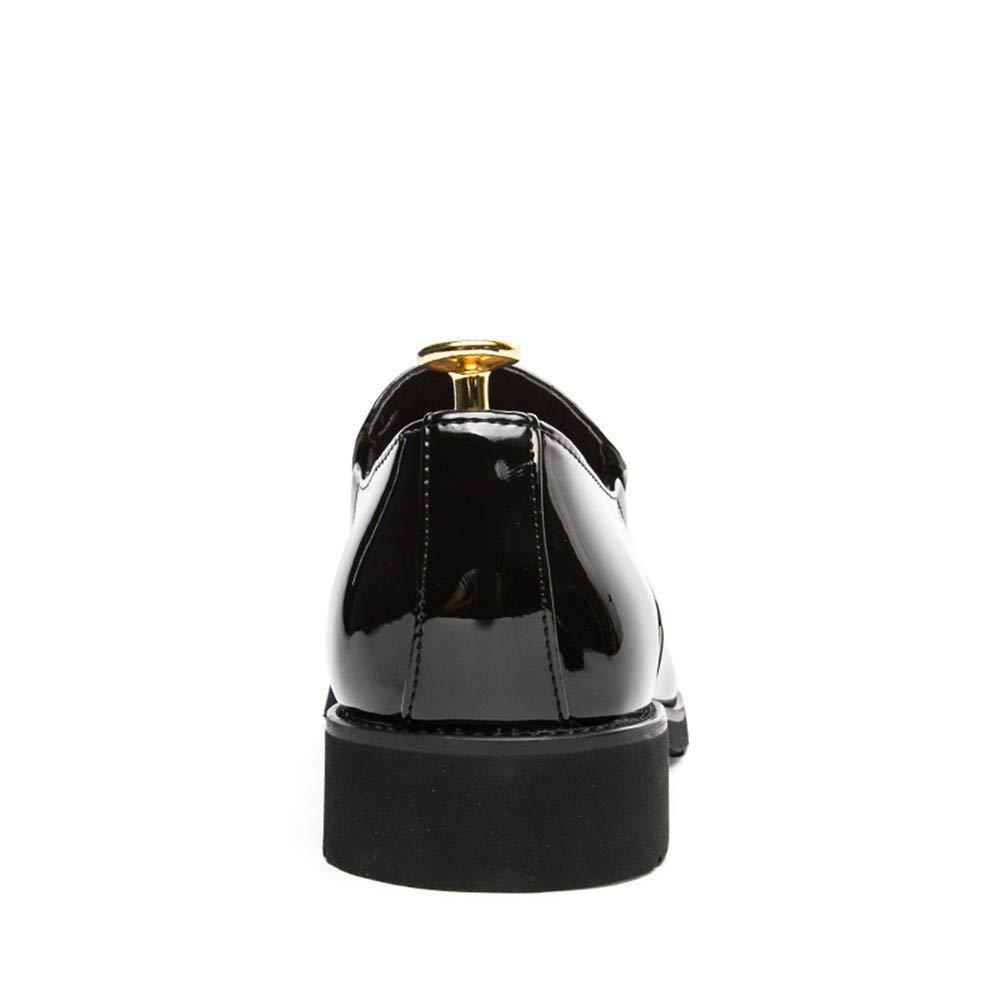 FuweiEncore 2018 Männer Business Oxford Casual Persönlichkeit Mode Retro Retro Retro Pinsel Farbe Atmungsaktiv Lackleder Formale Schuhe (Farbe   Blau, Größe   38 EU) (Farbe   Schwarz, Größe   43 EU) 8d99ce