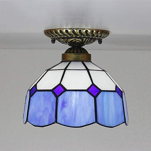 Lámpara De Techo De Estilo Tiffany Sencilla, Vitrales ...