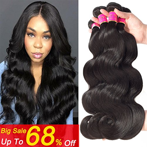 Peruvian Body Wave Hair 4 Bundles Thick Body Wave Bundles Human Hair (20 22 24 26) 8a Peruvian Hair Natural Wave Unprocessed Curly Loose Wave