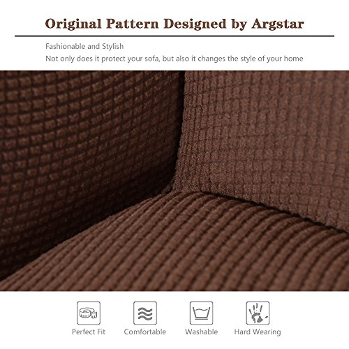 Sofa Slipcovers Large: Sofa Slipcovers Jacquard Couch (Extra Large) Brown