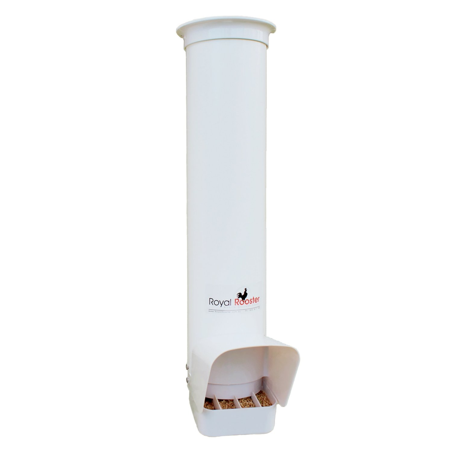 Royal Rooster Chicken Poultry Feeder with Rain Cover - 6.5 Pound Capacity by Royal Rooster