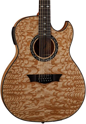 - Dean Exhibition Quilt Ash 12-String Acoustic-Electric Guitar Gloss Natural