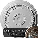 Ekena Millwork CM18ALBBS Alexandria Rope Ceiling Medallion, 19 5/8'' OD x 1 1/2'' P, Bronze Blue Patina