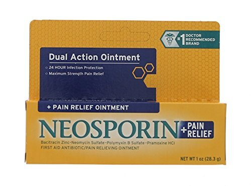 Neosporin First Aid Antibiotic Ointment Maximum Strength Pain Relief, 1-Ounce by Neosporin