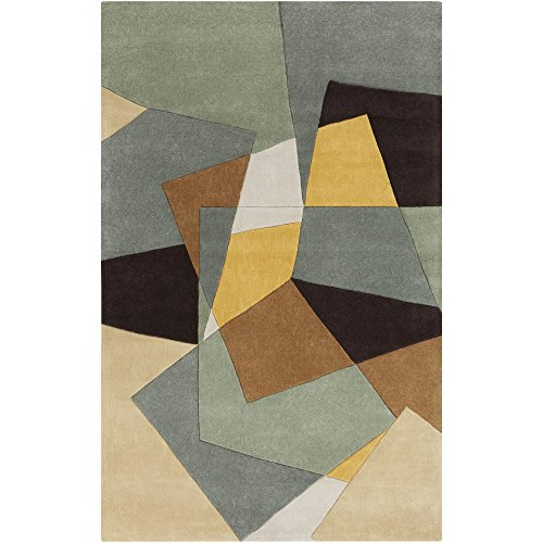 Surya Cosmopolitan COS-9127 Transitional Hand Tufted 100% Polyester Dried Oregano 2' x 3' Geometric Accent Rug ()